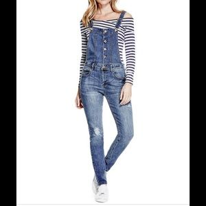 Guess skinny overalls